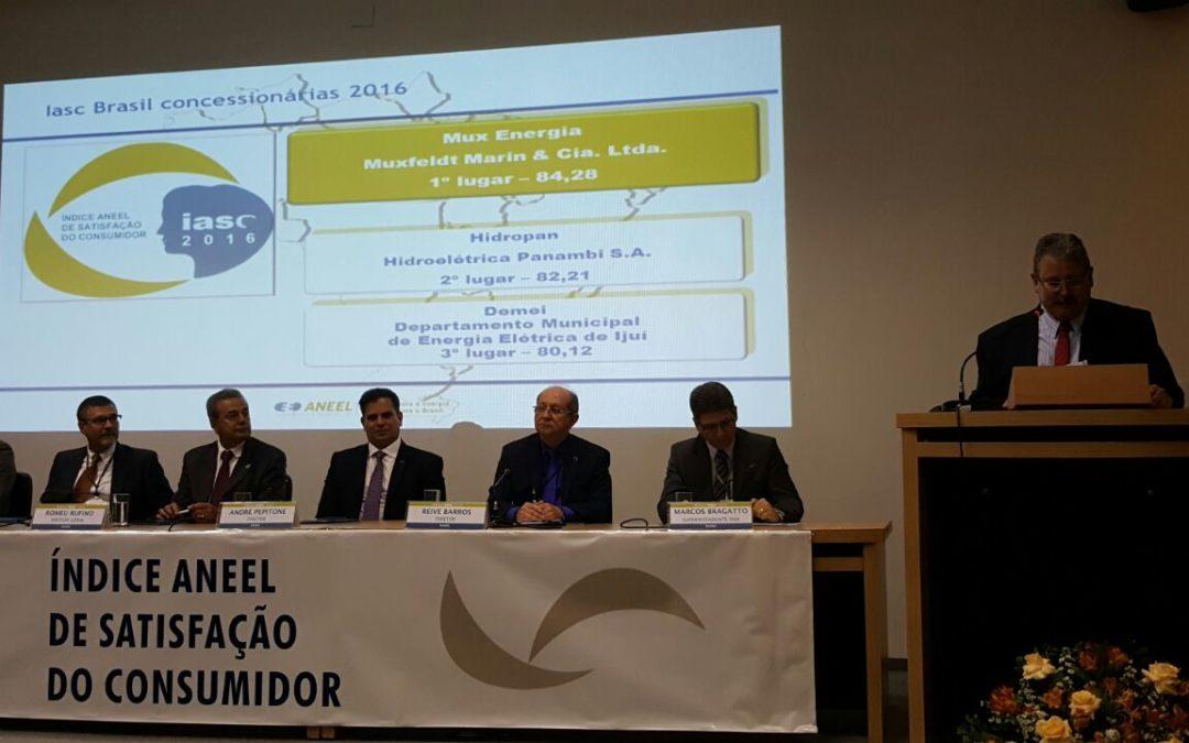 Hidropan é a segunda melhor concessionária de energia do Brasil de acordo com IASC Brasil